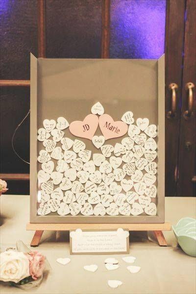 unique wedding guestbook_ frame with hearts - tutorial - FineCraftGuild.com