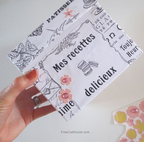 DIY Recipe Box w handmade Wrapping Paper + Vintage French Paper Freebie :: FineCraftGuild.com