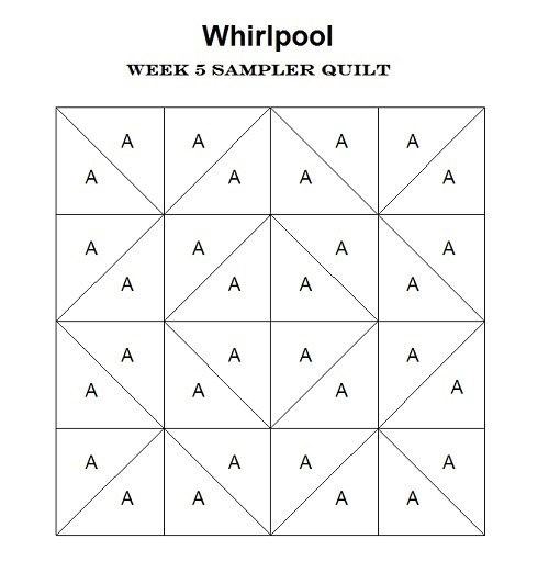 Whirlpool Block Pattern (Sampler Quilt Workshop #23