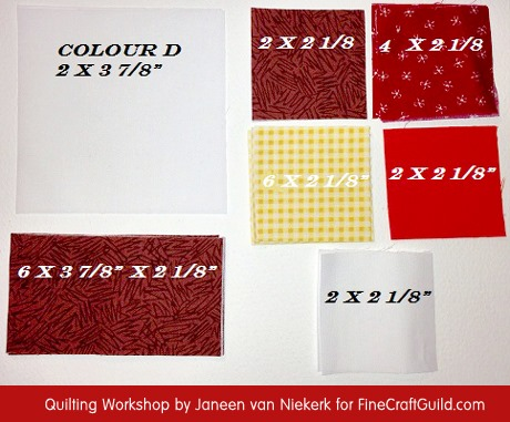 Domino Quilt Block Pattern 1