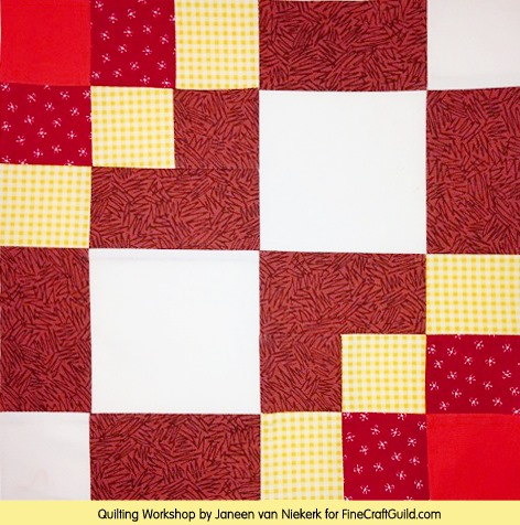 Free Domino Quilt Block Pattern + Workshop :: Janeen van Niekerk :: FineCraftGuild.com
