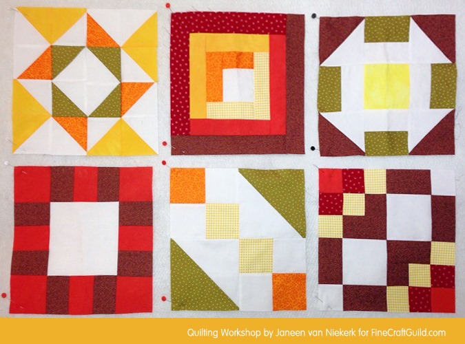Domino Quilt Block Pattern 6
