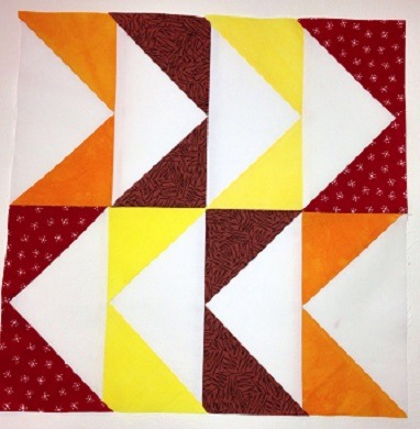 Flying Geese Block Quilt Pattern :: Janeen van Niekerk :: Quilt Art Designs :: Featured at FineCraftGuild.com