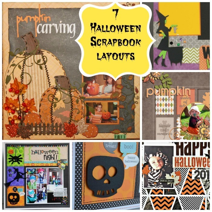 Halloween scrapbooking page layouts