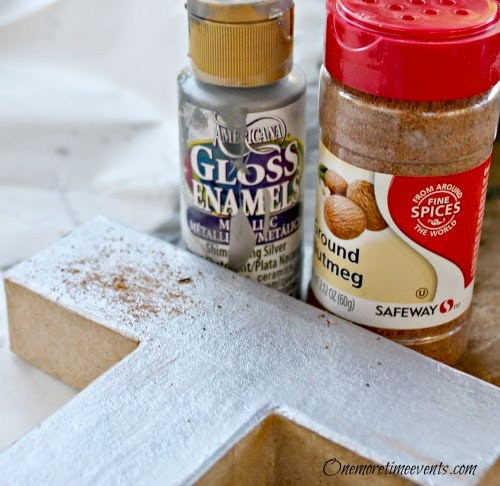 craft supplies for faux rust decorated letters