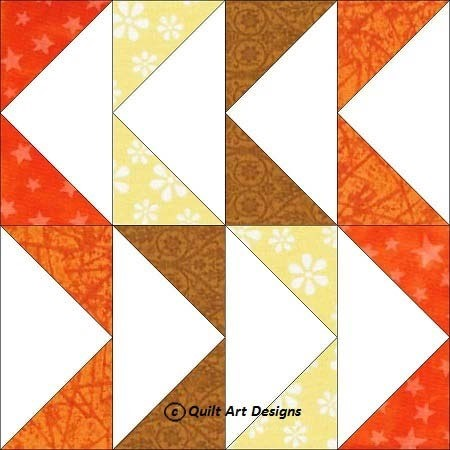 free flying geese block quilt block pattern