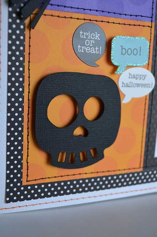 Halloween scrapbooking page layouts with skulls
