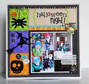 Halloween scrapbooking page layouts spiders