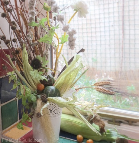 centerpiece ideas :: how to decorate with vegetables and fruit :: FineCraftGuild.com