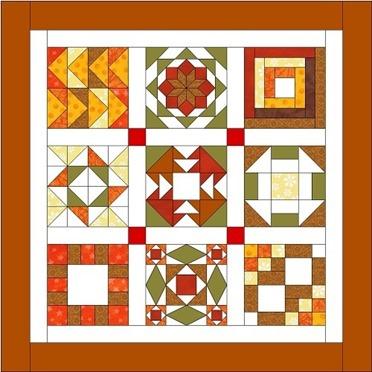 free pattern fall quilt sampler : Janeen van Niekerk : FineCraftGuild.com