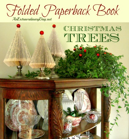 Folded-Paperback-Book-Christmas-Trees