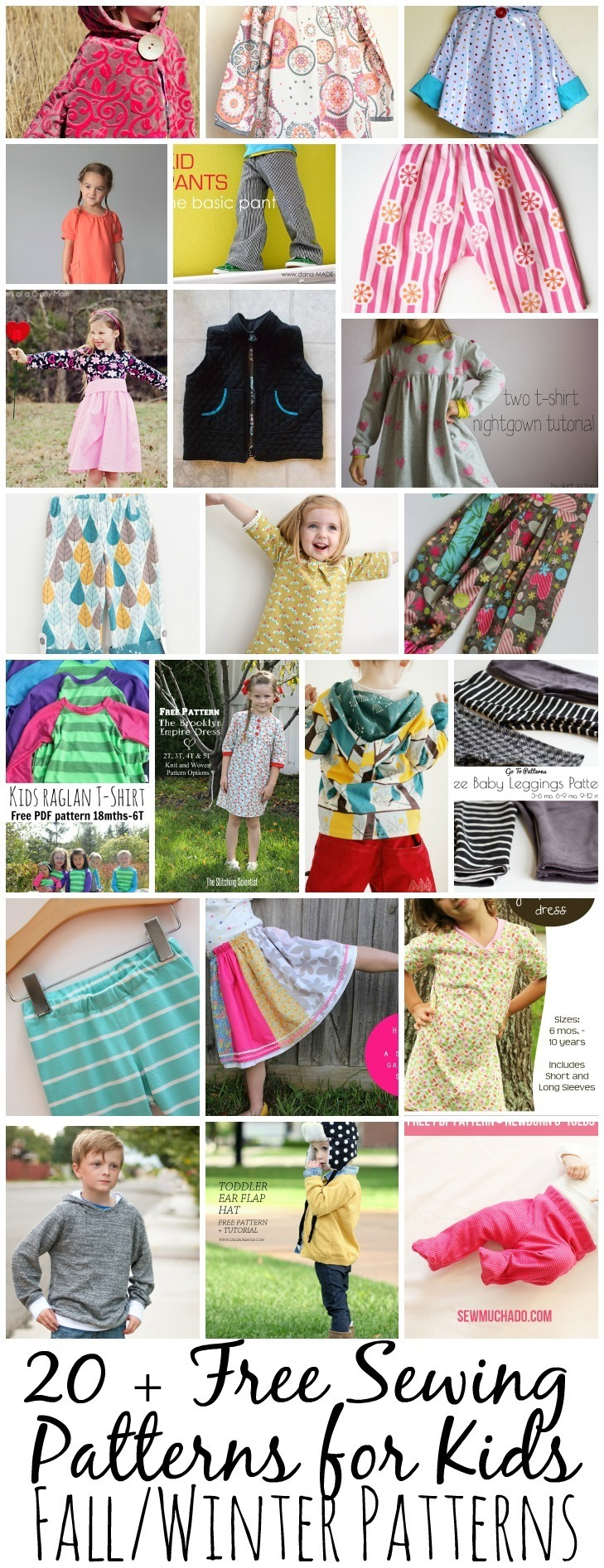 Free Sewing Patterns for Kids Fall – Winter