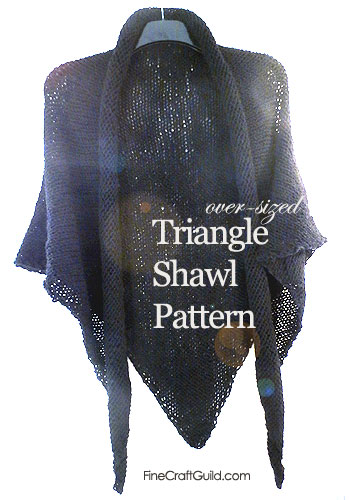 triangle shawl knitting pattern