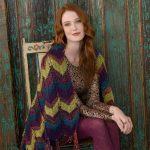 chevron throw free knitting pattern