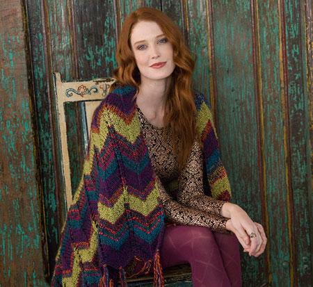 Chevron Throw Knitting Pattern Free