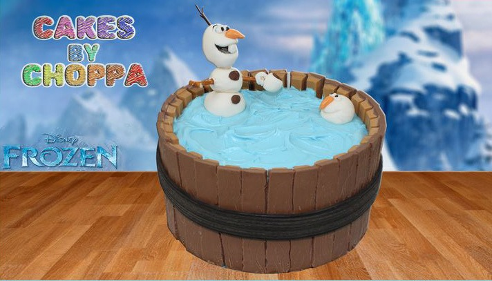 Kit Kat Birthday Cake – Frozen Olaf  – video tutorial