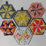 hexagram potholders quilt pattern