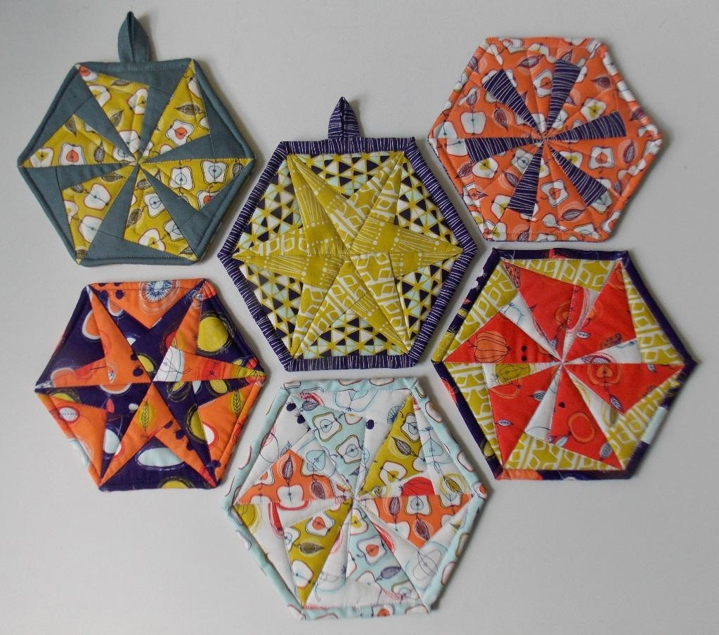 Hexagon Quilt Pattern for Trivets, Coasters and Potholders