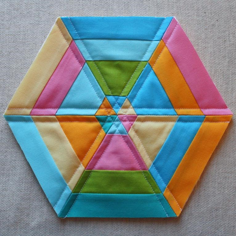 Hexagon Quilt Pattern for Trivets, Coasters and Potholders : potholder quilt patterns free - Adamdwight.com