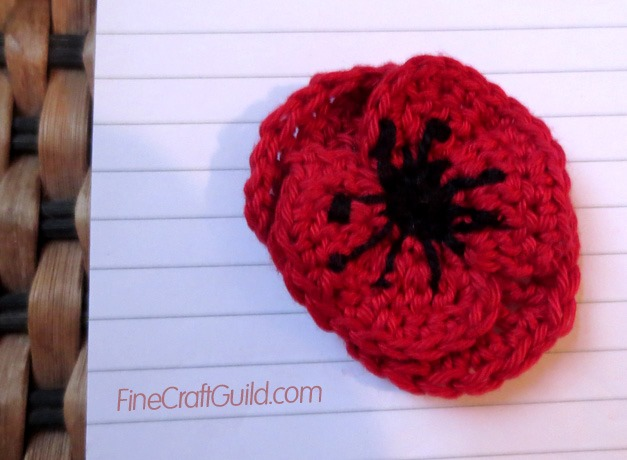 red poppy crochet pattern free