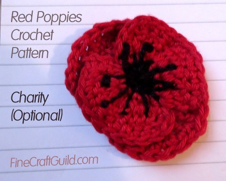 red poppy crochet pattern
