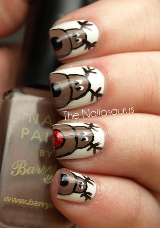 rudolph_reindeer_nail_art