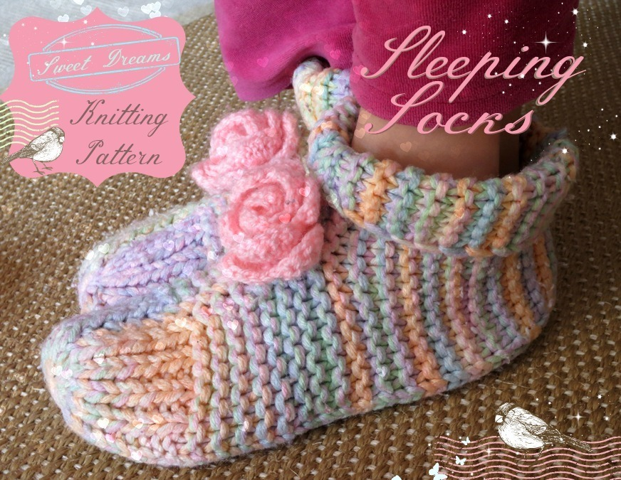 Knitting Patterns Bed Socks Easy : Sleep Socks Knitting Pattern
