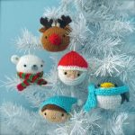 Christmas Ornaments Knitting Pattern set