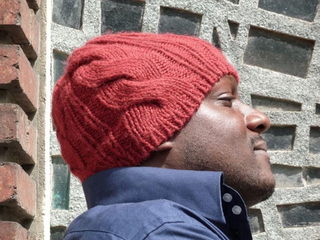 Winter hats for men :: FineCraftGuild.com :: mens cabled hat knitting pattern