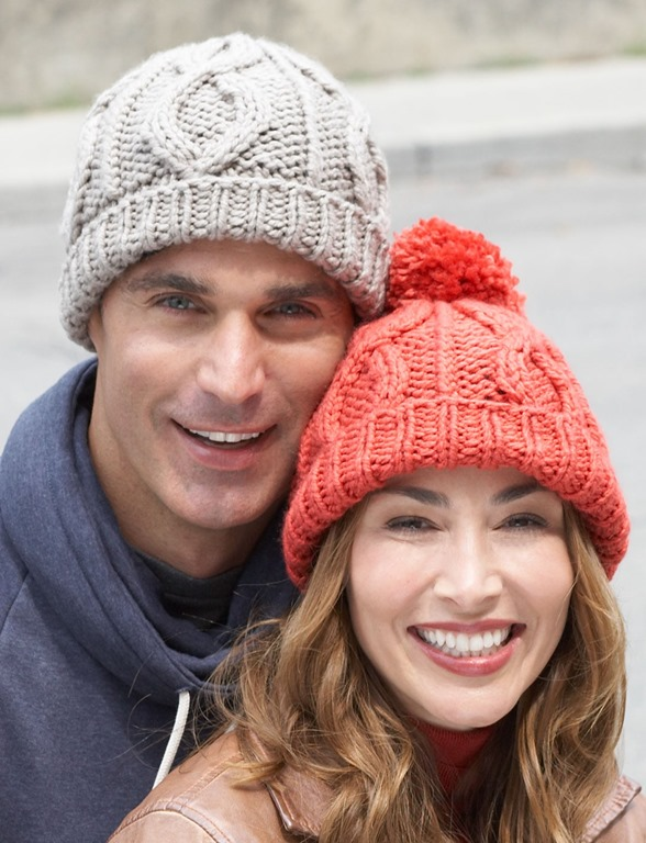 classic men cable hat knitting pattern