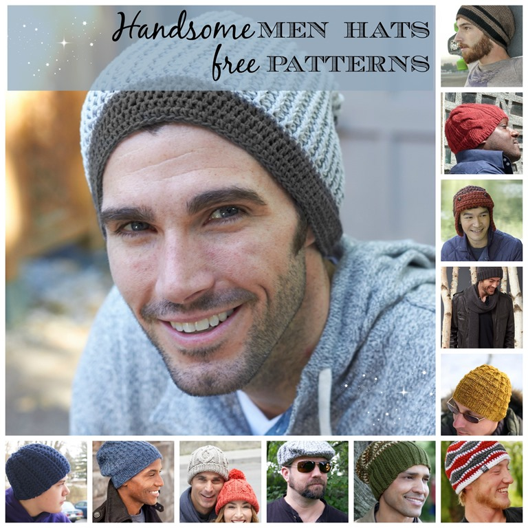 15 Incredibly Handsome Winter Hats for Men to Knit or Crochet :: FineCraftGuild.com