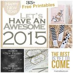 35+ Beautiful Free New Years Eve Party Printables