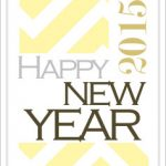 CHEVRON Happy New Year Images (free printables)