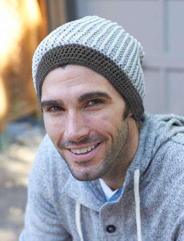 Winter hats for men :: FineCraftGuild.com :: mens hat crochet pattern