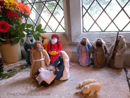 Knitted Nativity Scene knitting