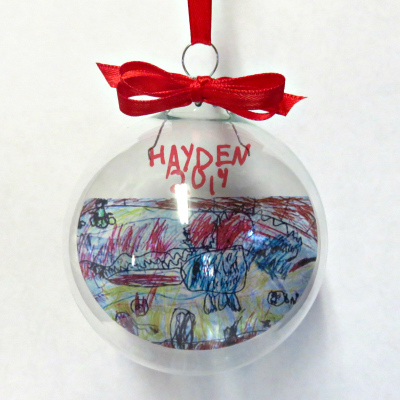 personalized christmas ornaments kids drawing