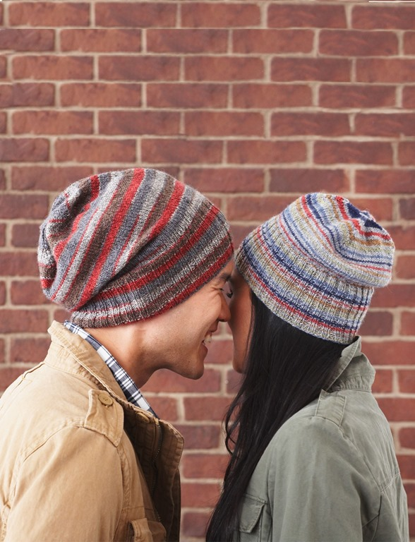 Winter hats for men :: FineCraftGuild.com :: mens striped beanie knitting pattern