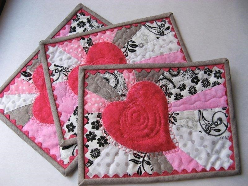 Free Quilt Block Patterns For Valentines Day Hearts