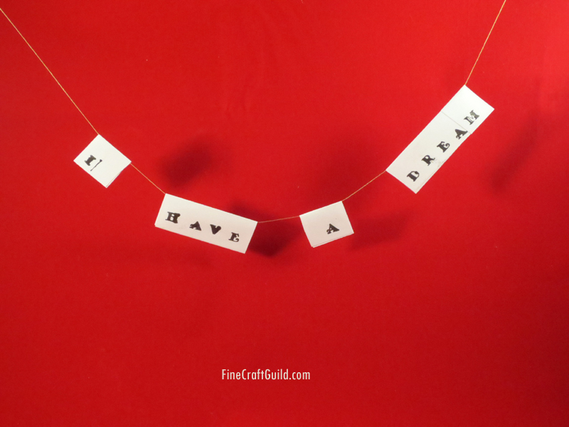 I Have a Dream – Paper Garland (Mr Luther King Craft)