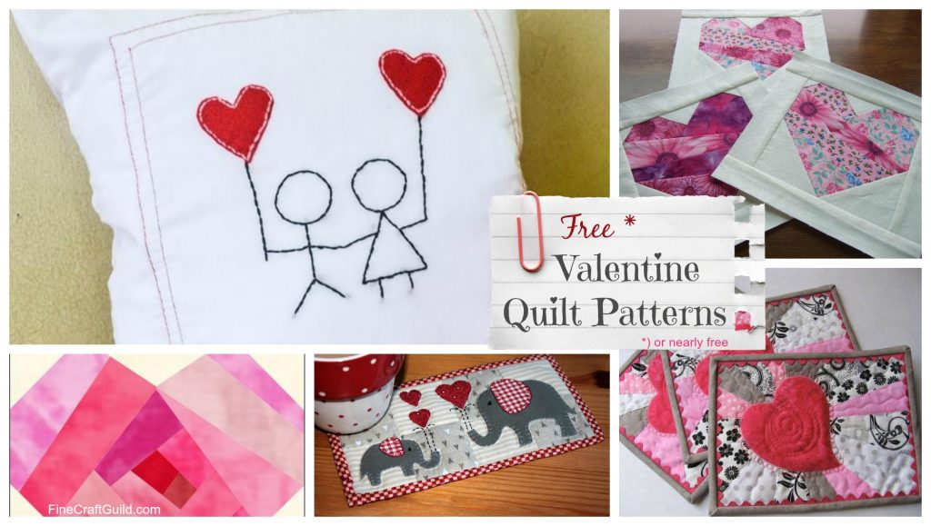 Free Quilt Block Patterns for Valentines Day :: FineCraftGuild.com