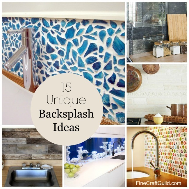 15 unique kitchen backsplash ideas finecraftguildcom - Unique Kitchen Backsplash Ideas