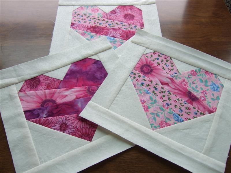 Crazy quilt paper Pieced Heart Block :: Free Quilt Block Patterns for Valentines Day