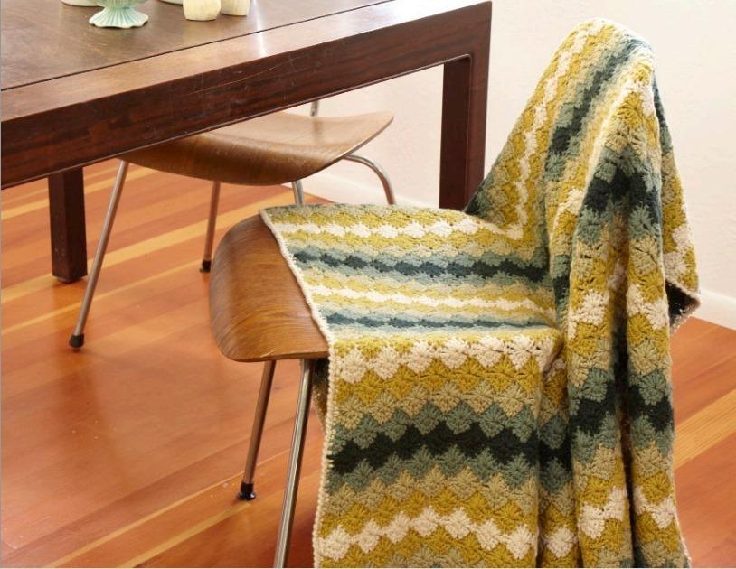 harlequin stitch crochet baby blanket free pattern