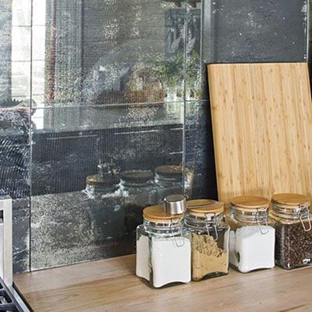 15 Unique Kitchen Backsplash Ideas :: FineCraftGuild.com :: vintage mirrors