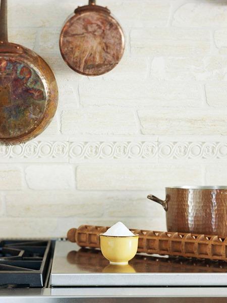 painted stone :: 15 Unique Kitchen Backsplash Ideas :: FineCraftGuild.com