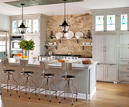 Paris map :: 15 Unique Kitchen Backsplash Ideas :: FineCraftGuild.com