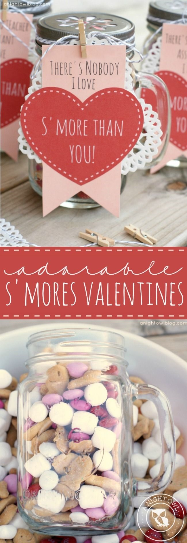 smores valentine gifts mason jar