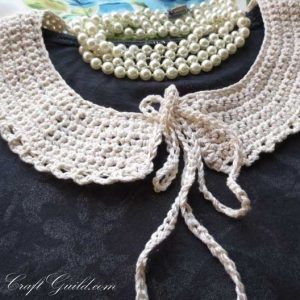 detachable Peter Pan lace collar crochet pattern