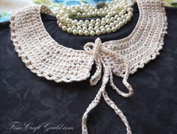 detachable Peter Pan lace collar crochet pattern