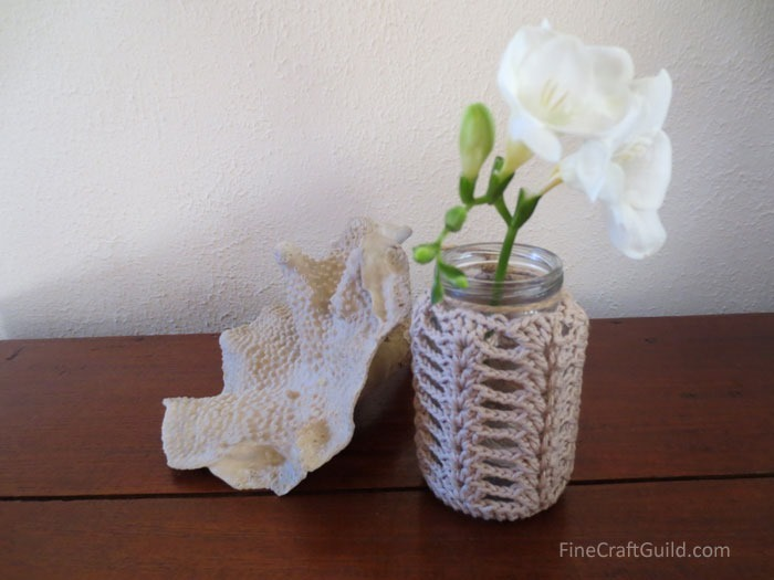 Mason Jar Cover Crochet Pattern